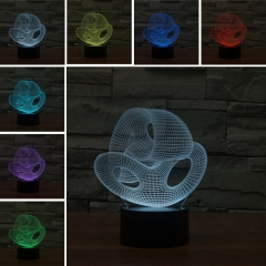 Colorful Changing Night Light Touch Switch 3D LED Lamp (Creative 02) multi-color not specied 0.5w