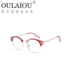 Oulaiou Fashion Accessories Anti-fatigue Popular Eyewear Frames Reading Glasses OJ520 red