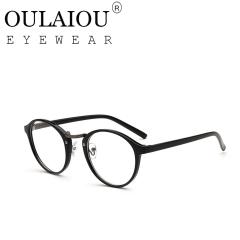 Oulaiou Fashion Accessories Anti-fatigue Popular Eyewear Round Frames Reading Glasses OJB-066 black