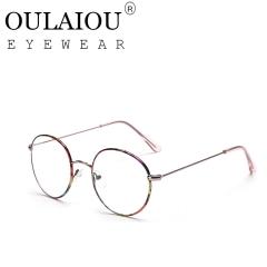 Oulaiou Fashion Accessories Anti-fatigue Popular Round Eyewear Frames Reading Glasses OJ9726 pink