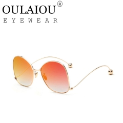Oulaiou Classic Design New Fashion Accessories Anti - UV Sunglasses OF108 red one size