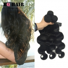 BQ HAIR Top 7A 100% Unprocessed Virgin Human Hair 3 Bundles Body Wave Style Human Hair (8'~32') nature black 10 10 10