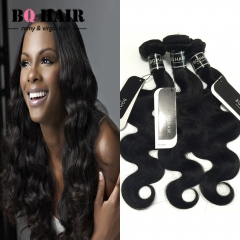 "BQ HAIR 8A 1/3/4 Bundles100% Brazilian Virgin Hair Body Wave Hair Weaves 100g/Bundle (10""~28"") nature black 14 16 18"