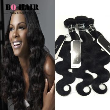 "BQ HAIR 8A 1/3/4 Bundles100% Brazilian Virgin Hair Body Wave Hair Weaves 100g/Bundle (10""~28"") nature black 10 10 10"