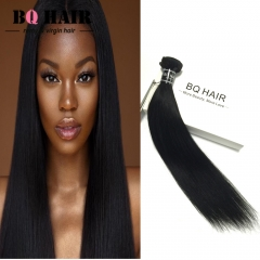 "BQ HAIR Grade 8A Brazilian Virgin Hair 100% Human Hair Weave Straight Like Silk 100g/pc (10""~28"") nature black 26 inch"