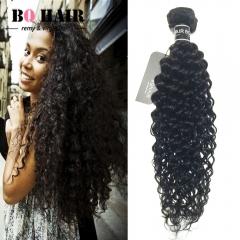 "BQ HAIR Grade 8A Deep Curly 100% Unprocessed Peruvian Virgin Human Hair 100g/Bundle (10""~28"") nature black 10 inch"