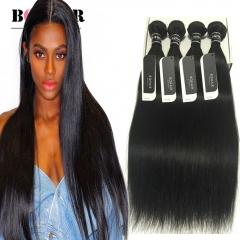 BQ HAIR Top 7A Cheap Straight Hair Weaves 8 to 32 Inches Peruvian Human Hair 4 Bundles 100g/pc nature black 10 10 10 10
