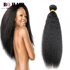 "BQ HAIR Grade Brazilian 100% Unprocessed Virgin Human Hair kinky Straight Soft 100g/Bundle(10""~28"") natural black 10 inch"