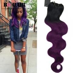 BQ HAIR New Arrival 100% Brazilian Virigin Hair Body Wave Style Human Hair 1pc/100g Cheap 1b-purple 10 inch