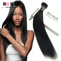 BQ HAIR Top 7A Brazilian Straight Human Hair 100g/pc Back to School nature black 12 inch