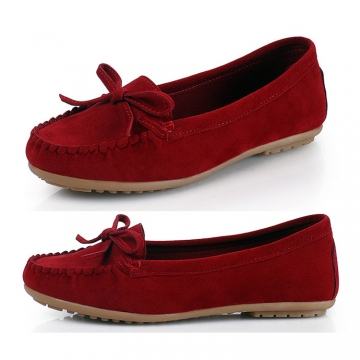 Women Doft Court Shoes New Design Slip-on Shoes High Quality wine red 38