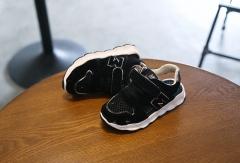 Children Kids Shoes Fashion Top Grils Boys Footwear Net Fabric For Boys Sports Sandals black us 9.5