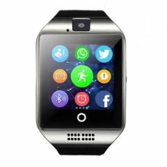 Passometer Smart watch with Touch Screen camera TF card Bluetooth smartwatch silver one size