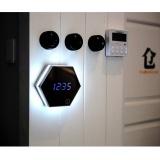 Multi-function image digital clock Mirror the alarm LED eye makeup mirror a night light alarm RoseA Free Size