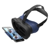 3D VR/AR Headset Foldable Virtual Reality Headset 3D Glasses  BlackA One Size
