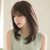 Women Korean fashion girls air bangs wig hair wig Brown Free Size