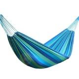 300 x 150cm Outdoor portable hammock, single swing bed, camping, leisure double hammock Blue