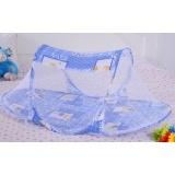 Multifunctional folding mosquito net / baby mosquito net / baby special cartoon type mosquito net Blue One Size