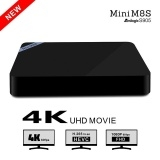 Mini M8SII Android smart TV box S905X network player TV BOX 2G/8G WiFi Black One Size