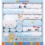 pure cotton baby clothes newborn gift box newborn baby suit Blue One Size