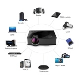UC46 Mini Portable Projector Full HD 1080P Red-Blue 3D Effect Projector BlackD One Size