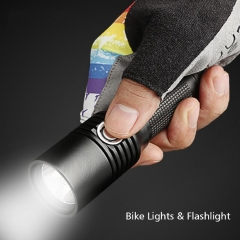 USB Bike Light ,Rechargeable LED Bike Light SUPER BRIGHT 860 Lumens Headlight Black Free Size