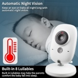 3.2 inch Wireless Video Color Baby Monitor High Resolution White One Size
