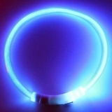 50 cm Dog Collar Led Lights Adjustable USB luminous collars Blue M