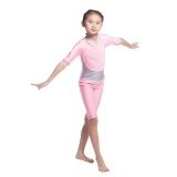 Muslim girls swim suit brach long sleeve swimsuit Pink,Yellow L
