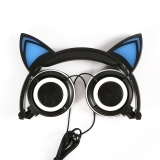 Cat Ear Headphones for Computer Games Headset Black T One Size