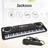 Children's electronic keyboard, microphone, piano, multi-function, 61 keys