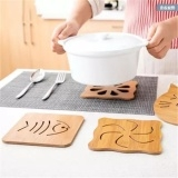 9 PCS Kitchen bamboo heat insulation mat, wooden table mat, non slip mat, cushion, cushion, cushion Multicolor One Size