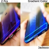 2 pcs samsung S8 Plus Electroplating gradient following scale cases Black One Size