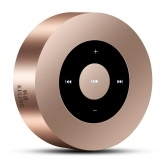 Wireless Bluetooth speaker outdoor mini audio card touch screen portable speaker Gold A One Size