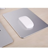 300 * 240 * 3 mm Gaming Aluminum Mouse Pad with Anti-Skid Rubber Base Silver