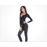 Women Body Shaping Waist Girdle Tummy Control Jumpsuit Bustier Waist Trainer shapewear Silver XXL
