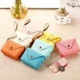 Korean cute candy color small Purse Coin Bag key bag creative Macarons hand bag Pouch Rose,Orange One Size
