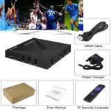 A5X network television set-top BOX 6.0 TV BOX AMLOGIC S905X TV BOX Black One Size