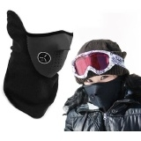 Women Men Unisex Wind Stopper Neck Warm Face Mask Cover For Bike Bicycle Motorcycle Outdoor Black  One size