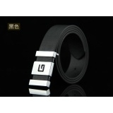 Fashion Men's business casual buckle PU belt Brown,Black Not Specified