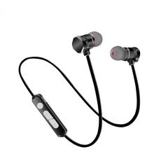 X3 Bluetooth Headset Sports Wireless Binaural Stereo Running Earbud Metal Magnetic Stretcher 4.1 black