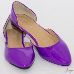 Amaiya Elegance Purple Pointed Toe Ballerina Ladies Shoes