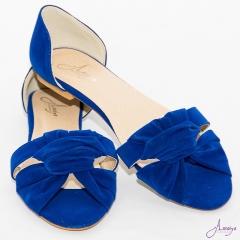 Amaiya Elegance Royal Blue OpenToe Ballerina Ladies Shoes Royal Blue 41