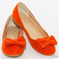 Amaiya Elegance Orange Bow Doll Ladies Shoes