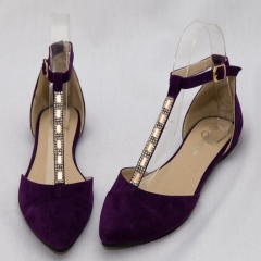 Amaiya Elegance Deep Purple Pointed Toe Ladies Shoes deep purple 39