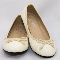 Amaiya Elegance White Snake Print Ballerina Ladies Shoes
