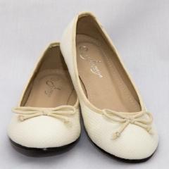 Amaiya Elegance White Snake Print Ballerina Ladies Shoes
