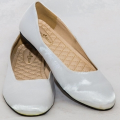 Amaiya Elegance Trendy Silver Ballerina Ladies Shoes