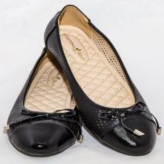 Amaiya Elegance Trendy Black Perforated Ballerina Ladies Shoes 43