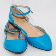 Amaiya Elegance Blue Naked Pointed Toe Ballerina Ladies Shoes